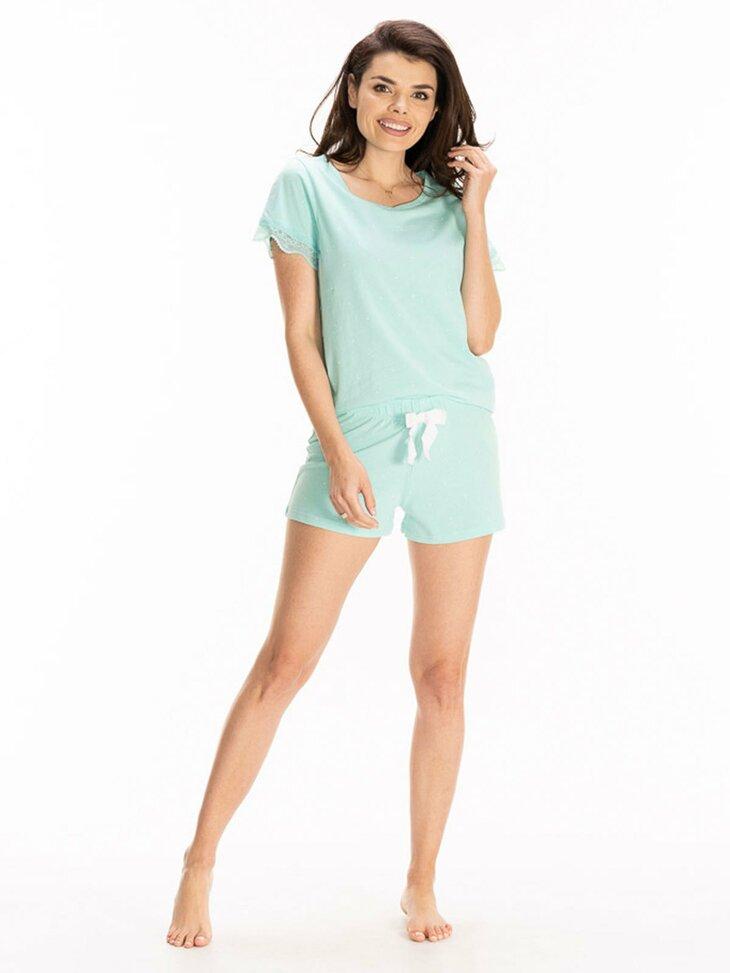 turkusowa piżama damska